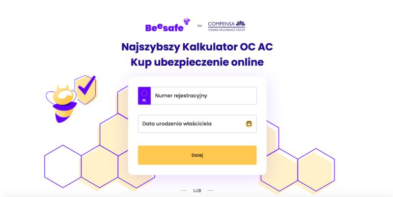 Kalkulator ubezpieczeń Beesafe
