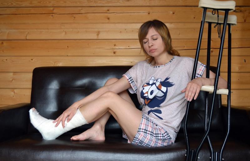 Wypadek - złamanie stopy