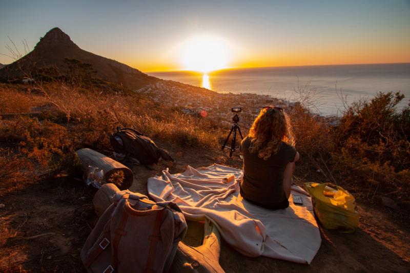 Kobieta i spokojne wakacje