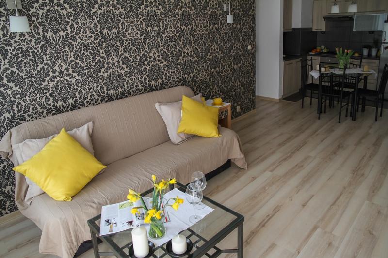 Ubezpieczenie mieszkania - salon i kuchnia